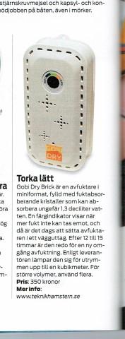 GOBI DRY Brick trådlös luftavfuktare